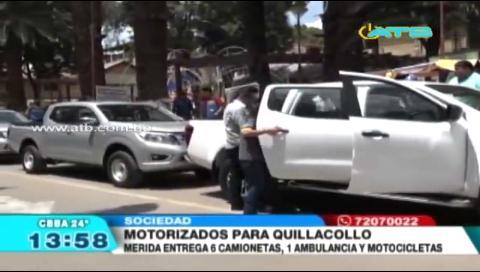 Entregaron 6 camionetas, 1 ambulancia y varias motocicletas a dependencias de la Alcaldía