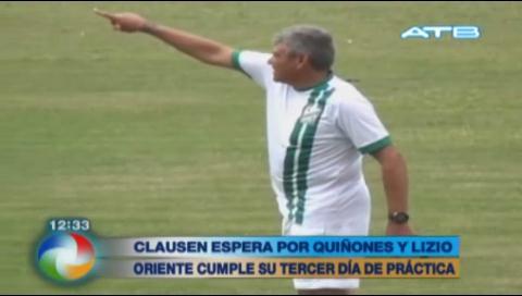 Clausen espera que Quiñónez y Lizio formen parte de Oriente Petrolero