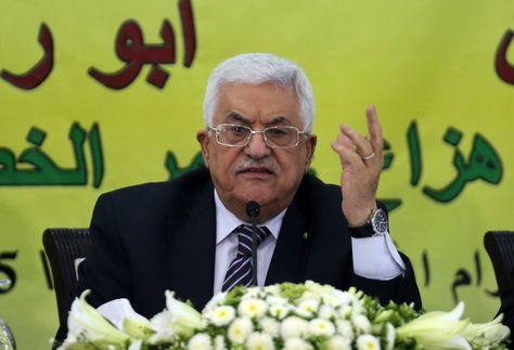 El presidente palestino, Mahmud Abbas durante un acto público. Foto: Archivo AFP