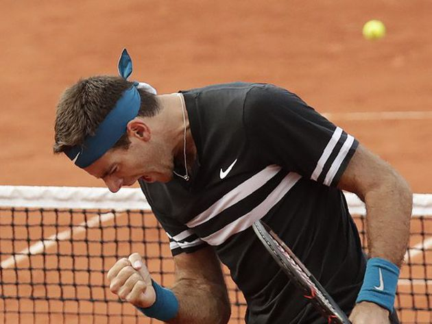 Del Potro se presento con victoria en Roland Garros