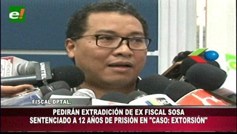 Condenado a 12 años de cárcel: Fiscalía pedirá extradición del exfiscal Soza