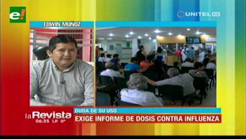 Muñoz afirma que el Sedes sólo uso 180 mil dosis para la influenza de las 450 mil