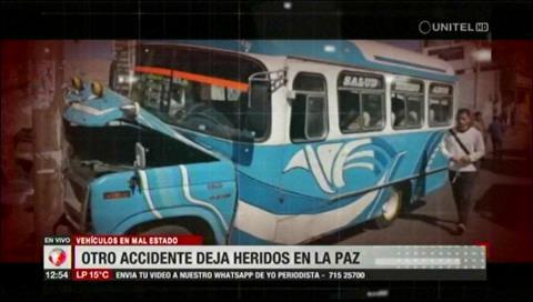 Mal estado de micros en La Paz pone en peligro a pasajeros y transeúntes