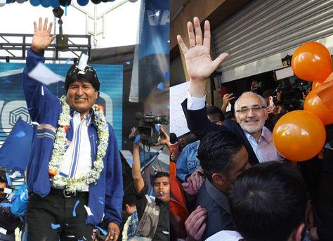 Evo Morales y Carlos Mesa, los candidatos mejor ubicados en la encuesta que publicó La Razón