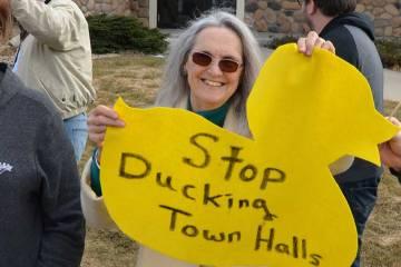 Jason Lewis ducks town halls.