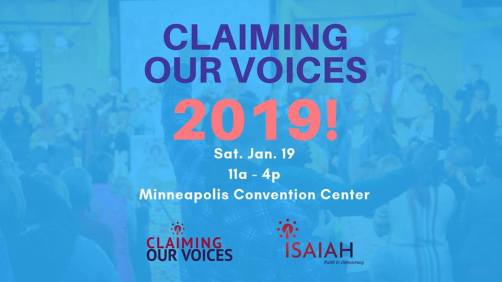 Claiming Our Voices 2019! ISAIAH Convention @ Minneapolis Convention Center