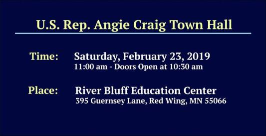 U.S. Rep Angie Craig Red Wing Town Hall @ River Bluff Education Center Cafeteria