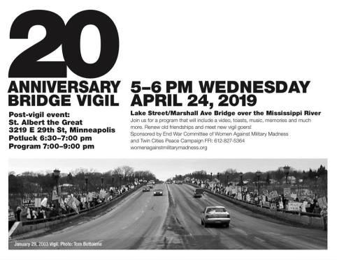20th Anniversary Peace Vigil