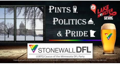 Pints, Politics, & Pride:Social Hour @ Lake Monster Brewing