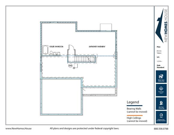 Yukkon single story home plan from CDAhomeplans.com Optional Lower Level Page