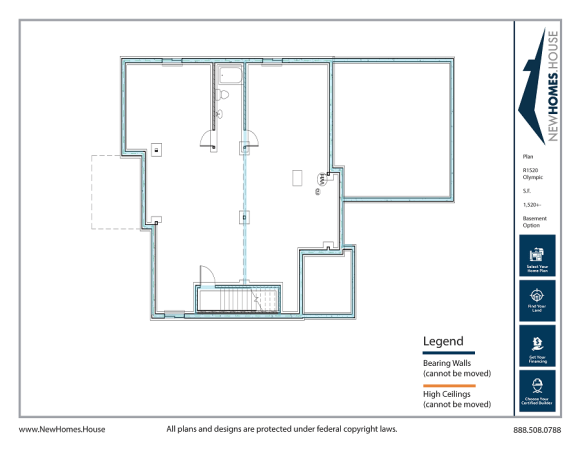 Olympic single story home plan from CDAhomeplans.com Optional Lower Level Page