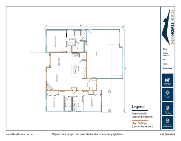 Fremont single story home plan from CDAhomeplans.com Main Floor Page