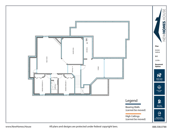 Selkirk single story home plan from CDAhomeplans.com Optional Lower Level Page