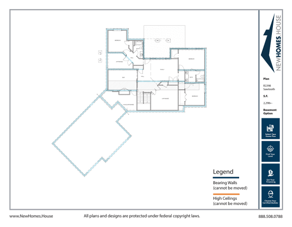 Sawtooth single story home plan from CDAhomeplans.com Optional Lower Level Page