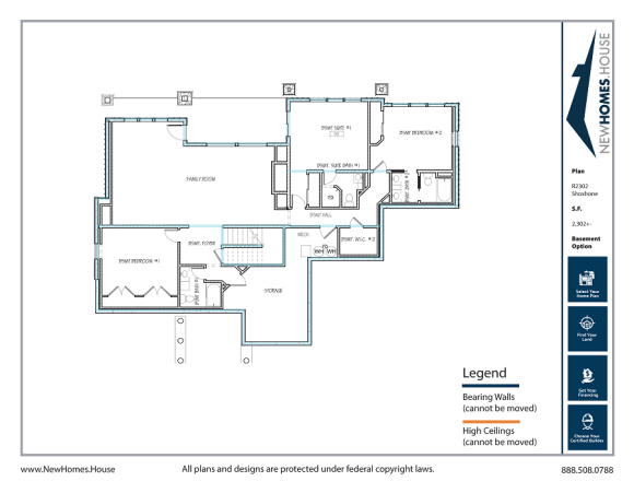 Shoshone single story home plan from CDAhomeplans.com Optional Lower Level Page