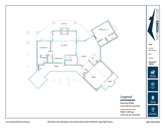 Mackenzie single story home plan from CDAhomeplans.com Optional Lower Level Page