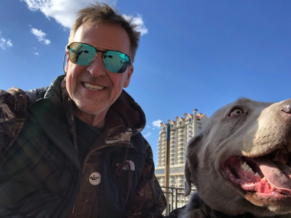 Todd J. Sullivan and his dog Loki in Coeur d Alene, ID