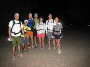 3:30 at the Bright Angel Trailhead. Don't we all look like Bright Angels?