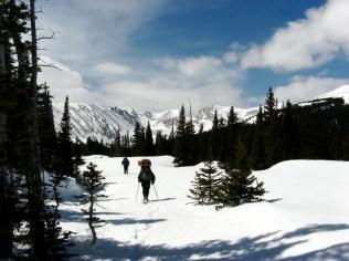 Peter and Ben approaching Long Lake.