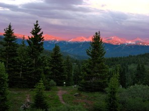 Alpenglow on the Tenmile Range.