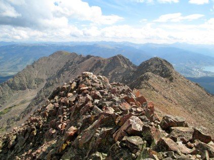 Red Peak summit and east ridge