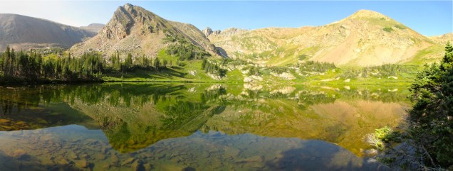 Nice time to reflect at Rogers Pass Lake
