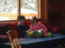 Joe reading to Rachel