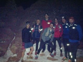 Happy runners on the summit. (photo by Lynn Dunston)