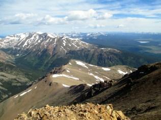 Elbert's North Ridge with Mt. Massive beyond