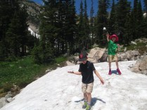 A refreshing July snowball fight!
