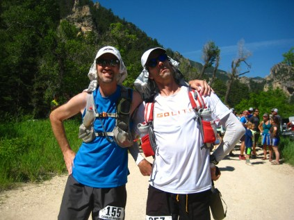 Brian and I at the start. Nope, no nerves here.