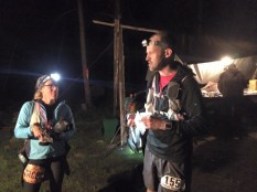 Mile 53: Cindy and I chat at Elk Camp.