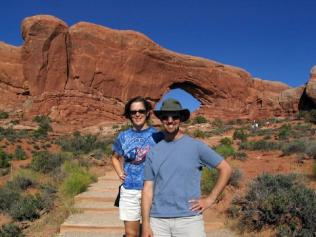 Emily and I at the North Window Arch.