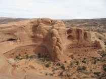 The view in the other direction from Delicate Arch.