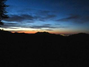 4:30: Sky lightening in the east