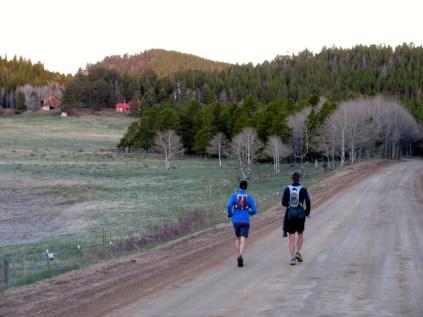 5:30: Easy miles on Magnolia Road