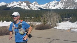 June 7th: pavement was welcome after five miles of snow (Brainard Lake)