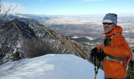 Feb 7: very chilly on the summit of Bear Peak with Ben