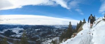 Feb 7: Bear Peak, lots of snow and wind.