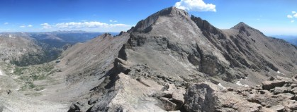 The south face of Longs Peak. This is a really weird view of the famous mountain.