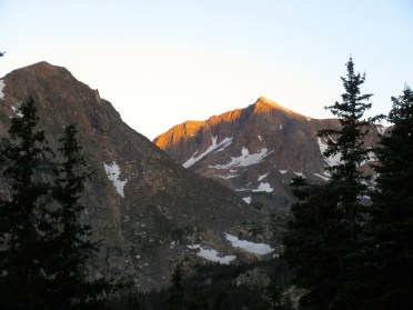 First light on the summits is what makes alpine starts worth it.