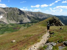 The always-popular descent to Devils Thumb Lake
