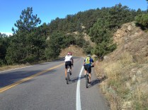 The easy lower slopes of Flagstaff with the pair of Bens