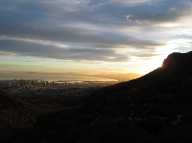 Sunrise from the trailhead. Proper.