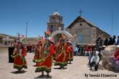 Bailes aymaras en nuestra llegada a Cancosa.