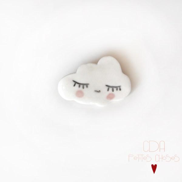 Broche en porcelaine mon joli nuage CDA Petites Choses