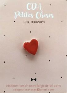 broche-coeur en porcelaine CDA Petites Choses