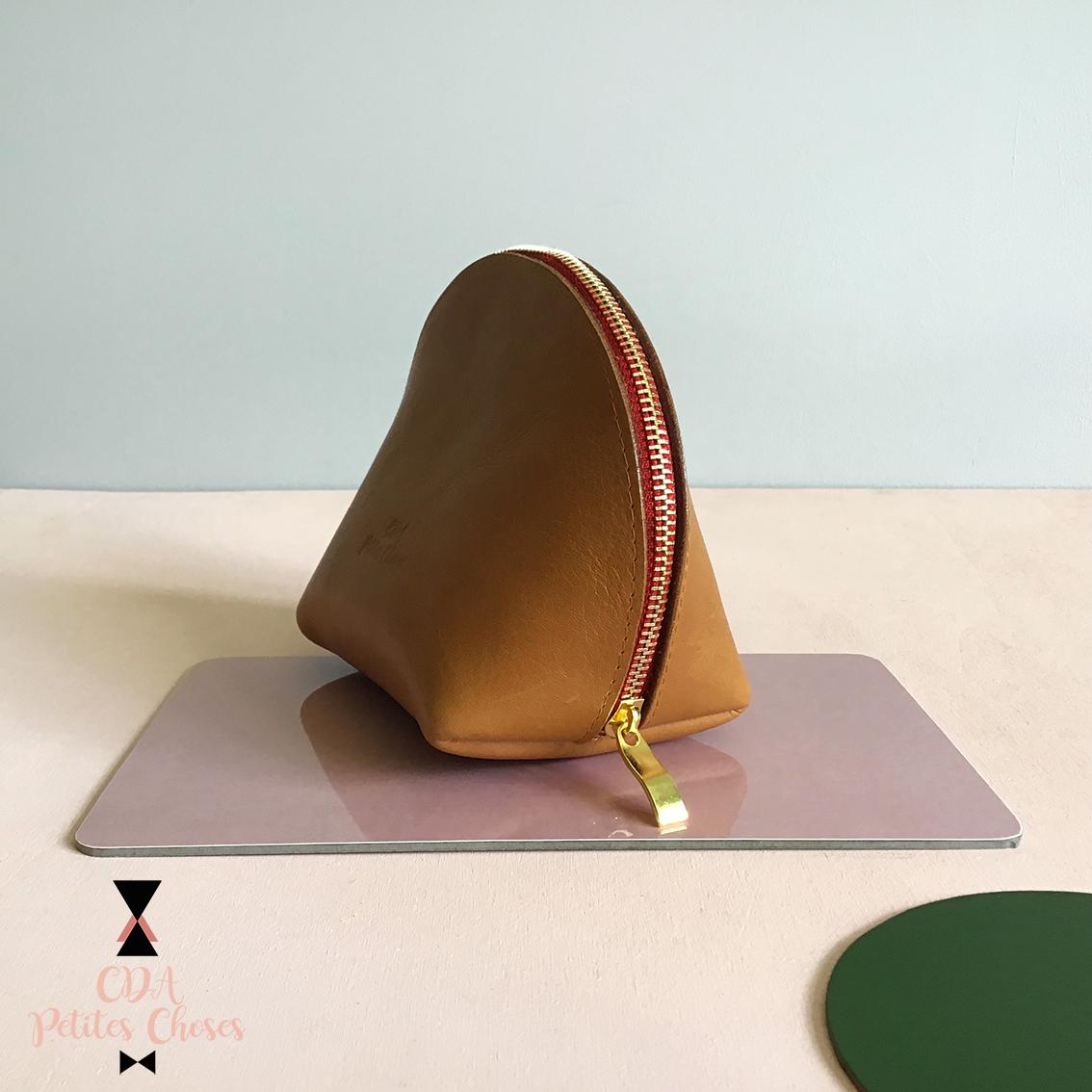Trousse coquille en cuir CDA Petites Choses