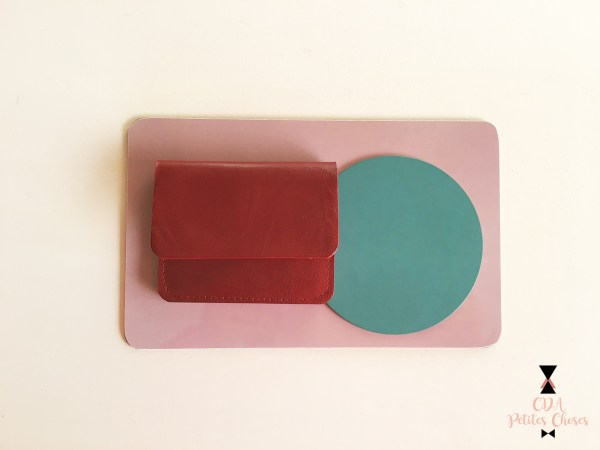 Porte-carte-rouge-carmin CDA Petites Choses