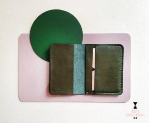 porte-cartes-en-cuir-kaki CDA Petites Choses